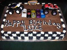A monster truck cake... Should I dare try to make this cake for his birthday ???