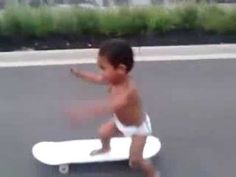 Awesome Skateboarding Baby