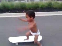 Awesome Skateboarding Baby