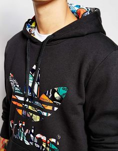 Image 3 of adidas Originals Hoodie With Printed Trefoil AC0485