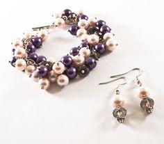 Bratara Perle si Cristale (40 LEI la Quadrille.ro.breslo.ro) Drop Earrings, Jewelry, Fashion, Moda, Jewlery, Jewerly, Fashion Styles, Schmuck, Drop Earring