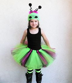 Alien Princess Custom Sewn Alien Tutu Costume by TiarasTutus, $48.00