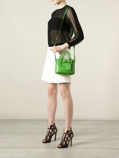 Green calf leather micro #bag from Reed Krakoff.