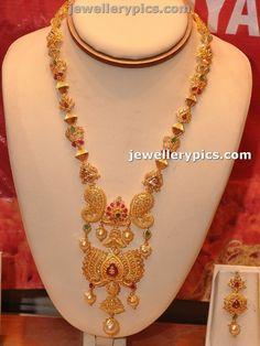Beutiful Gold Lotus Haram by Manepalli jewellers - Latest Jewellery Designs