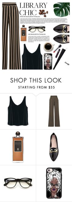 """Library Chic"" by preciouspearll ❤ liked on Polyvore featuring MANGO, Etro, Serge Lutens, Kate Spade, Wildfox, Casetify and preciouspearltopset"