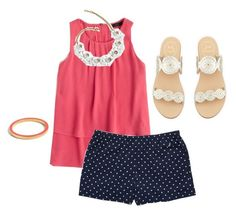 """""""Finally summer"""" by steppintoprep ❤ liked on Polyvore featuring J.Crew, Nautica and Jack Rogers"""