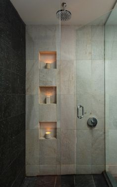 Recessed Tile Niche's As A Design Element | Utah Style & Design. With a different color tile.