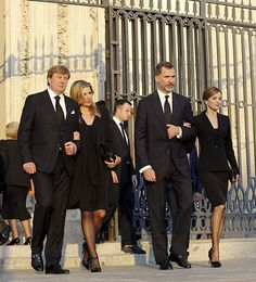 King Willem & Queen Maxima, King Felipe & Queen Letizia, at a memorial for Prince Kardam