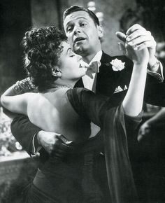 "Gloria Swanson & William Holden in ""Sunset Boulevard"""