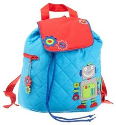 Stephen Joseph Quilted Robot Backpack - so great for boys or girls!