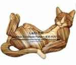 36-KW175 - Lazy Cat Intarsia Woodworking Pattern
