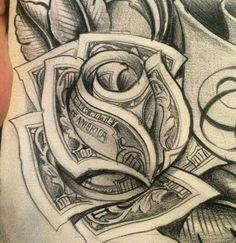 Tattoos for men Chicano Art Tattoos, Gangsta Tattoos, Body Art Tattoos, Sleeve Tattoos, Rose Drawing Tattoo, Tattoo Design Drawings, Tattoo Sketches, Tattoo Designs, Future Tattoos