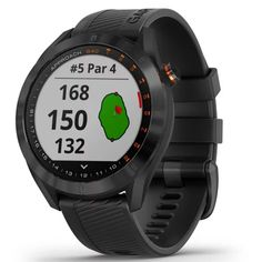 - Stylish, lightweight GPS golf watch with a sunlight-readable 1.2 color touchscreen display with metal bezel and quick release bands for easy change of style or color  - Preloaded with more than 41,000 courses from around the world  - AutoShot detection measures and auto-records detected shot distances; pair with optional Approach CT10 club tracking sensors for more automatic game tracking capabilities  - Green View feature allows manual pin positioning; quickly reference distances to the front Golf Gps Watch, Smartwatch Features, Android Watch, Thing 1, Black Stainless Steel, Unisex, Fitness Tracker, Smart Watch, Cool Things To Buy