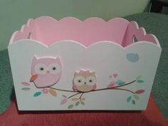portacosméticos bebes Decoupage Box, Decoupage Vintage, Hobbies And Crafts, Diy And Crafts, Paper Crafts, Baby Decor, Kids Decor, Shower Bebe, Baby Shower