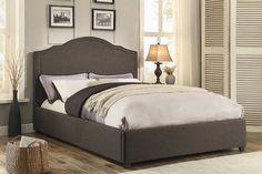 $195 Grey Queen Upholstered Bed