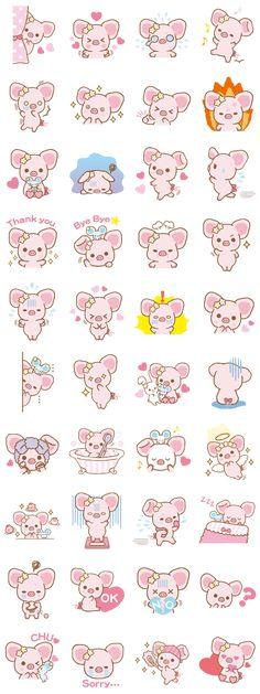 Descubre a Piggy girl. No te imaginas lo coqueta que puede llegar a ser. ¡Compruébalo en estos stickers!