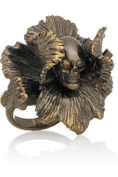 Skull ring by Alexander McQueen.