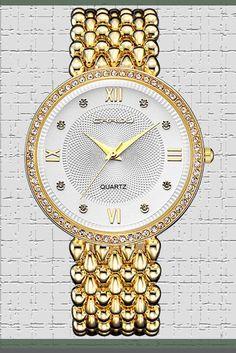 73f4c8d8219 MODIWEN Diamond Luxury Women Dress Watches Golden Silver Woman Causal  Waterproof Wristwatch Bracelet Price   24.99