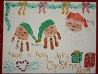 We did these a couple years ago with Taylor as the Santa and the three littles as Elves.  Super cute!