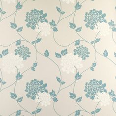 Laura Ashley Isodore Teal Floral Wallpaper ($31) ❤ liked on Polyvore featuring home, home decor, wallpaper, floral wallpaper, floral pattern wallpaper, flowered wallpaper, laura ashley wallpaper and laura ashley