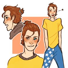 donotchoosesidesyet said: for a sec it looked like rhys' hair was in a little ponytail and i about died of delight. but gosh that new art is so cute aaaaaaah why do you do thisssss Answer: :~)