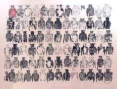 _ARCH_ Les Hiboux by Jean Paul Riopelle, R.C.A. - Galerie Lamoureux Ritzenhoff