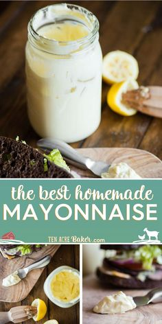 Homemade Mayonnaise is such an easy recipe to make that it only takes a few minutes. This mayonnaise recipe turns out creamy and thick and tastes so good! How To Make Mayonnaise, Mayonnaise Recipe, Homemade Mayonnaise, Homemade Mayo Recipe, Easy Homemade Recipes, Sauce Recipes, Real Food Recipes, Cooking Recipes, Raw Recipes
