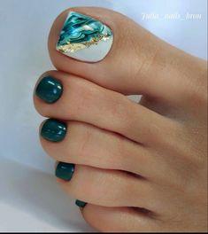 Pedicure Designs, Pedicure Nail Art, Toe Nail Designs, Pink Pedicure, Gel Toe Nails, Feet Nails, Gel Toes, Pretty Toe Nails, Cute Toe Nails