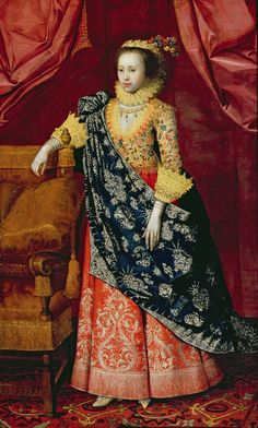 Portrait of a Lady Arabella Stuart - Countess of Lennox. by Marcus Gheeraerts the Younger. 1608-1610. Leeds