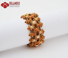 Tutorial Bracelet Letitia-Beading Tutorial Beading by Ellad2