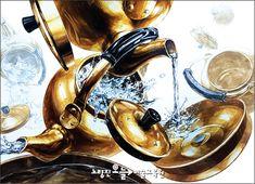 대방동 미술학원/동작구 미술학원/흑석동 미술학원/신림 미술학원/관악구 미술학원/노량진 미술학원-기초디자인 : 네이버 블로그 Art Classroom, 3d Rendering, Dieselpunk, Metallic Paint, Art Drawings, Watercolor, Painting Metal, Creative, Illustration