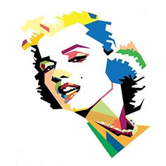 Cushion cover throw pillow case 18 inch pop art colorful Marilyn Monroe pretty girl both sides image zipper Marilyn Monroe Kunst, Marilyn Monroe And Audrey Hepburn, Marilyn Monroe Artwork, Marylin Monroe, Portrait Illustration, Graphic Illustration, Old Posters, Pop Art Images, Frida Art