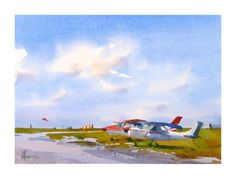 Andy Evansen Watercolors - The Wild Blue Yonder