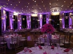 Fabulous #purple #uplighting at this #wedding #reception! #DIY #Inspiration #Ideas #rentmywedding