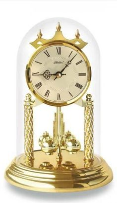beautiful table clock, made of plastic, crystal glass