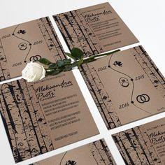 Zaproszenia ślubne Eko brzoza by Cartolina www.cartolina.com.pl wedding invitations