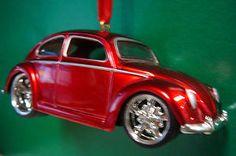 1959 '59 Volkswagen VW Beetle Ruby Red Christmas Tree Ornament   eBay