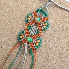And today I 'm working on this color combo... #madeinkansasbyrosi #macrame #bracelet #boho #bohemianstyle #bohemian #bohostyle #bohochic #bohofashion #gypsy #gypsystyle