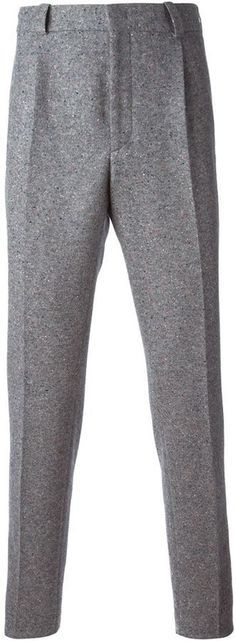 $600, Fendi Speckled Trousers. Sold by farfetch.com. Click for more info: https://lookastic.com/men/shop_items/329404/redirect