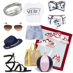 Beach Day by whitney-1988 on Polyvore featuring polyvore fashion style Lovers + Friends River Island Gianvito Rossi Emilio Pucci Whistles Ray-Ban Vince Camuto Carolina Herrera Jack Wills