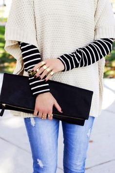 Keeping cozy in a chic way.