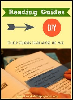 Make your own Reading Guides to help students with Fluency.  www.busykidshappymom.org