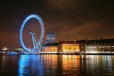 London Eye At Night Inside