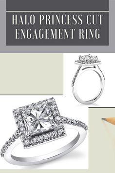 1.42ctw Princess Cut Engagement Ring, Halo Moissanite Engagement Ring, half eternity ring, Wedding Ring, 14k White Gold Ring **Description of Ring: ___________________________ ● Moissanite Details → Stone Shape : Princess Cut → Stone Size : 1.42ct → Stone Measurement: 5.5mm → Stone Color : EF → Stone Clarity : VVS1 ● Side Stone Details → Side Stone Shape : Round Cut → Side Stone Measurement : 28 x 1.5mm → Total Stone Weight : 0.42ct → Stone Color : EF → Stone Clarity : VVS1 Princess Cut Halo, Princess Cut Engagement Rings, Pretty Rings, Beautiful Rings, Full Eternity Ring, Stone Weight, White Gold Rings, Natural Diamonds, Wedding Rings