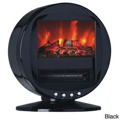 Himalayan Circular 1500-Watt Electric Fireplace   Overstock.com Shopping - Great Deals on Indoor Fireplaces (in white)