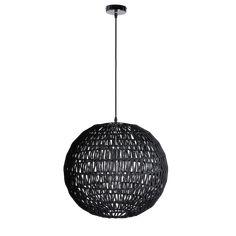 Hanglamp Luca Diameter 50 cm zwart - Afmeting: Diameter 50 cm - Kleur: Zwart - Materiaal: Touw