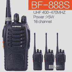 4 unids/lote baofeng bf-888s uhf 5 w 16ch 400-470 mhz transmisor-receptor portátil de radio cb radio de dos vías walkie talkie