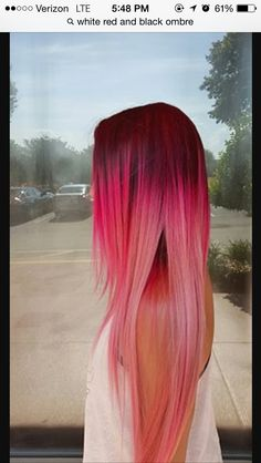 Red/pink ombré