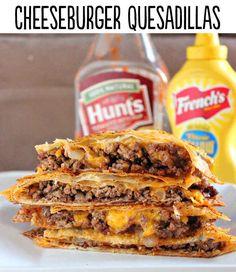 Cheeseburger Quesadillas 29 Lifechanging Quesadillas You Need To Know About  http://bsugarmama.com/cheeseburger-quesadillas/