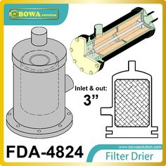 71.25$  Buy here - http://alikno.worldwells.pw/go.php?t=32710385171 - FDA-4824 replaceable core filter driers are designed to be used in the liquid and suction lines of water temperature machine.